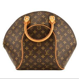 Auth. Louis Vuitton Monogram Ellipse MM Satchel